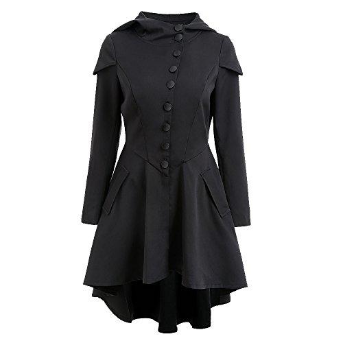 Chaud R Shujin Lacets Gothique Manteau Coat Capuche Trench Femme Veste gFrUFxz0n