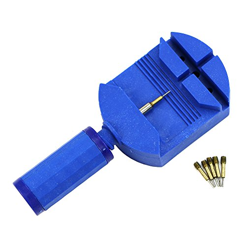 Kocome Professional Watch Band Bracelet Link Remover Adjust Repair Tool +5 Spare Pins (Blue)