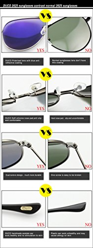 en UV Shine soleil les Duco polarisées protection avec monture pour 100 premium de 3025G Lunettes métal Gunmetal hommes style aviateur qEaSUzE