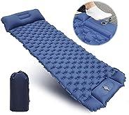 GeeMart Camping Sleeping Pad, Ultralight Inflatable Backpacking Sleeping Mat with Foot Pump, Compact Waterproo