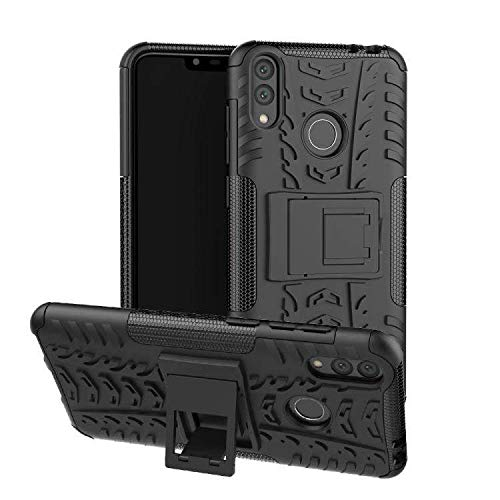AMZER Hybrid Dual Layer Warrior Case for Huawei Honor 8C, Honor Play 8C - Black