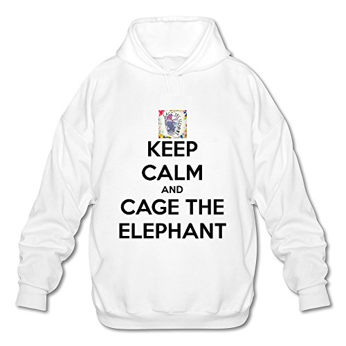 DASY Men's O-neck Cage The Elephant Hoody White X-Large