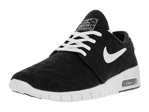 Nike Stefan Janoski Max, Chaussures de Skateboard Homme, Noir (Black/White), 46 EU