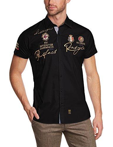 Redbridge Herren Regular Fit Freizeithemd R41604A, Gr. Kragenweite: 44 cm (Herstellergröße: XL), Schwarz (Black 012)
