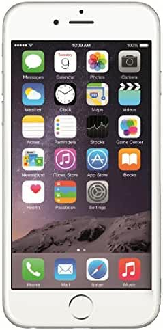 Apple iPhone 6 64GB Factory Unlocked GSM 4G LTE Smartphone, Silver (Certified Refurbished)