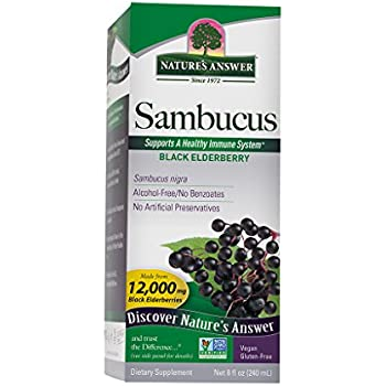 Nature's Answer Alcohol-Free Sambucus Black Elder Berry Extract, 8-Fluid Ounces