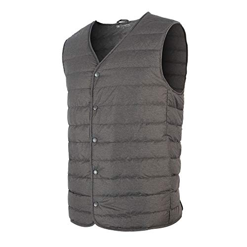 Promore Mens Packable Ultralight Down Puffer Vest (Gray, L)