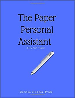paper personal assistant daily task tracker carmen jimenez pride