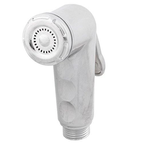 DealMux Metal Closestool Bathroom Water Shower Handgrip Hand Held Bidet Silver Tone