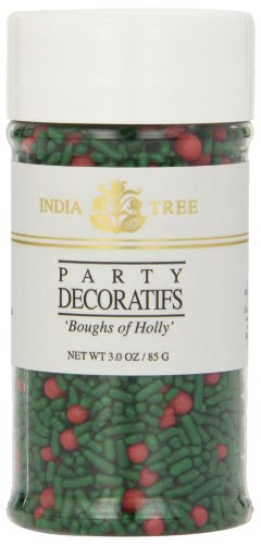 India Tree Boughs of Holly Decoratifs, 3 oz (Pack of 3) Bough Of Holly
