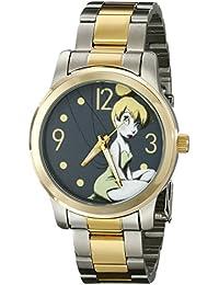 Women's W001841 Tinker Bell Analog Display Analog Quartz Two Tone Watch