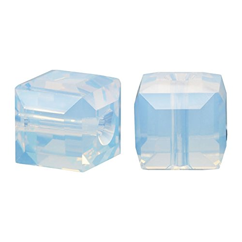- SWAROVSKI ELEMENTS Crystal #5601 6mm Cubes White Opal (4)