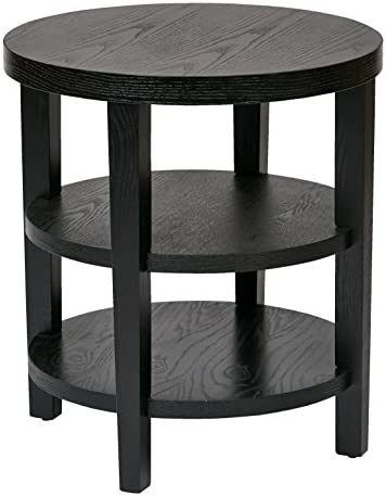 Ave Six AVE SIX OSP Furniture Merge Round End Table, 20 , Black