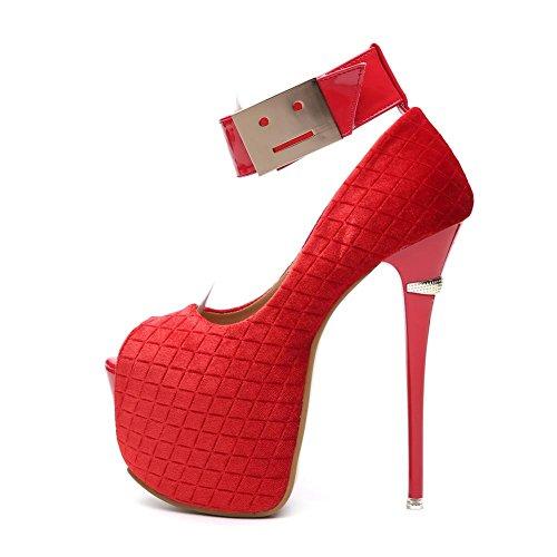 Red Eur Tacco Piattaforma Alto Discoteca Pesce Nero 37 Bocca Stiletto Donna 4 Lavoro Nvxie 5 Cinghie Sandali Caviglia eur37uk455 5 Festa Sexy uk Vestito Rosso qwXYgYT