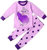 NEWLL Girls' Pajamas Set Children Pyjamas Girls Princess Cat Pjs Cotton Sleepwear Christmas Pajamas for To