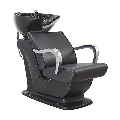 Beauty Salon Shampoo Backwash Unit Sink Station Tilting Ceramic Sink with Adjustable Seat – Beckman
