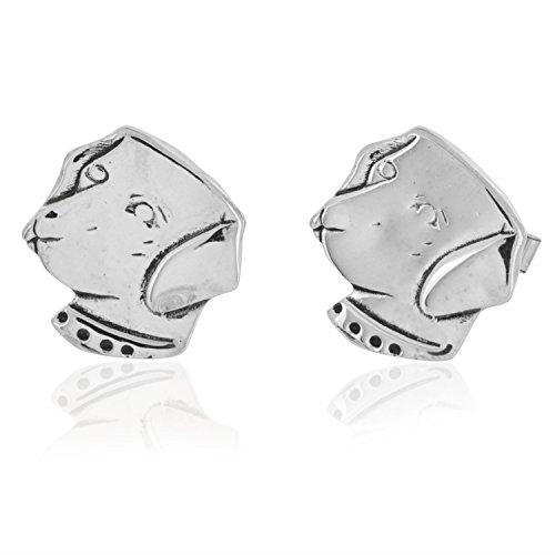 - Sterling Silver Labrador Dog Head Cufflinks