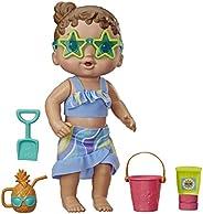 Boneca Baby Alive Bebe Sol e Areia - Com roupinha removível e 5 acessórios de praia - E8718 - Hasbro