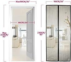 Grau 80x205cm Insektenschutz 31x81inch Magnetvorhang Ohne Bohren f/ür Balkont/ür Wohnzimmer Terrassent/ür Magnet Fliegengitter T/ür