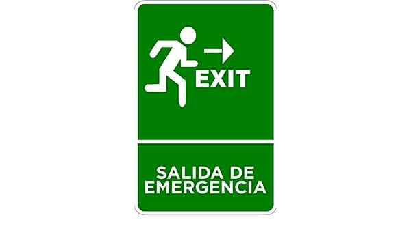 Señaletica de Salida de Emergencia 15x21cm | Señaletica en ...