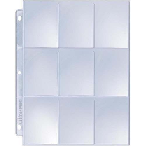 Ultra Pro 25/9 Pocket Silver Series Page Protectors - Free Card Holder