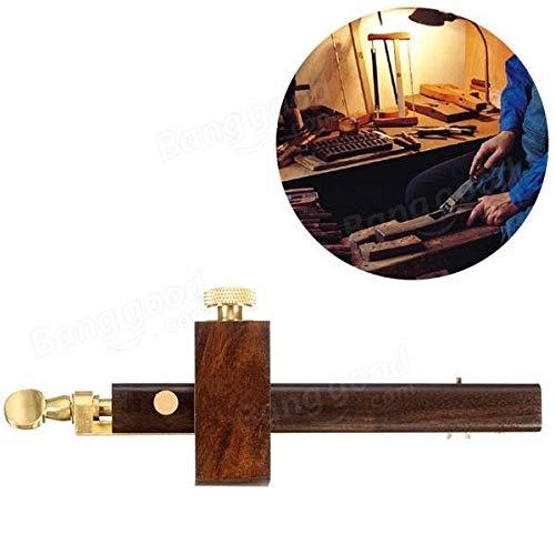 Ebony+ Copper Scriber Screw Cutting Gauge 8Inch/200mm Mark Scraper Wearproof Carpenter Woodworking Tool