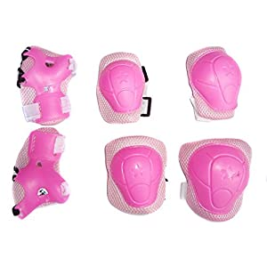 *6 PCS* Children Cycling Roller Protective Pads, Eruner Kid's Skateboard Biking Roller Blading Wrist Elbow Knee Pads Blades Guard Outdoor Sport Pads Accessory[Children'S Day Christmas Gift]