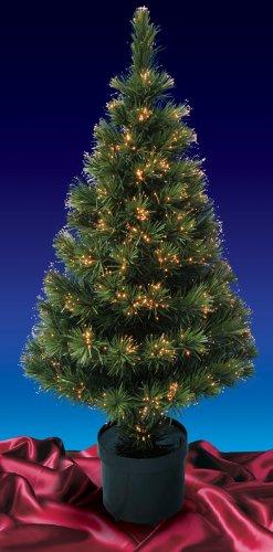 Blue Fiber Optic Christmas Tree