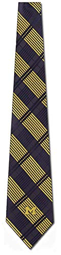 Eagles Wings Michigan Wolverines Woven Plaid Necktie