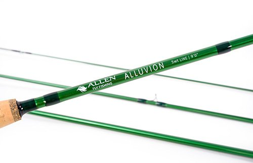 Allen – Alluvionフライロッドシリーズ、グラファイト4ピースフライフィッシングロッドwith B019EG3XIG   9' 5wt