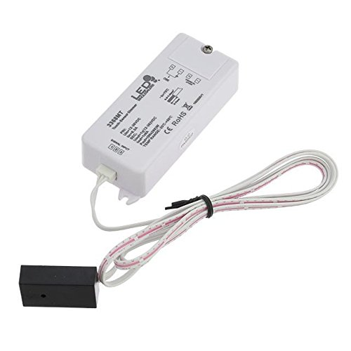 LEDwholesalers 1-Channel 12-36V 8A Dimmer with Insulated Touch Sensor for Single Color LED Strips and Modules, 3368MT ()