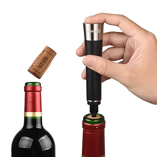 Qishare Elegant Air Pressure Wine Bottle Opener Pump with Foil Cutter Cork Out Tool Accessories