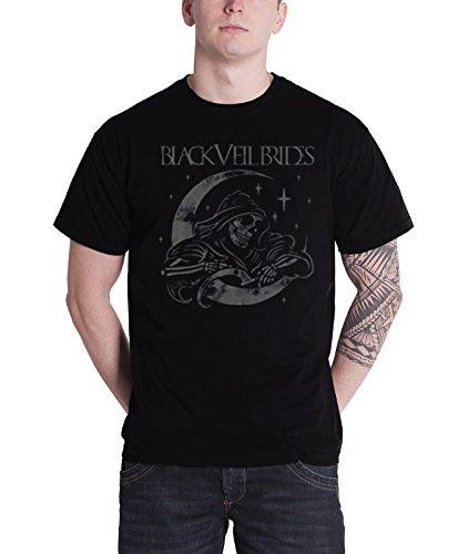 Black Veil Brides T Shirt Moon Reaper band logo BVB new Official Mens - Veil Bride Black