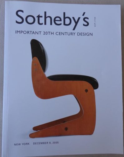 Download Important 20th Century Design - Sotheby's New York - December 9, 2005 pdf