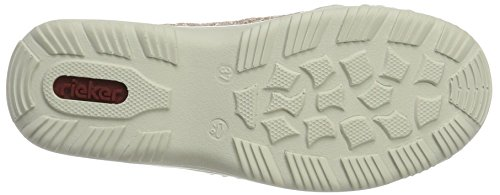 Rieker Women's L0568 Clogs, Blau (Blau Kombi), 3.5 UK Multicolour (Altrosa/Rose/Altrosa/Silverflower / 31)
