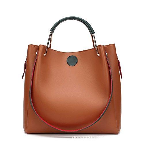 focus-womens-fashionable-style-simple-soft-pu-leather-elegance-tote-bags-shoulder-bagsorange