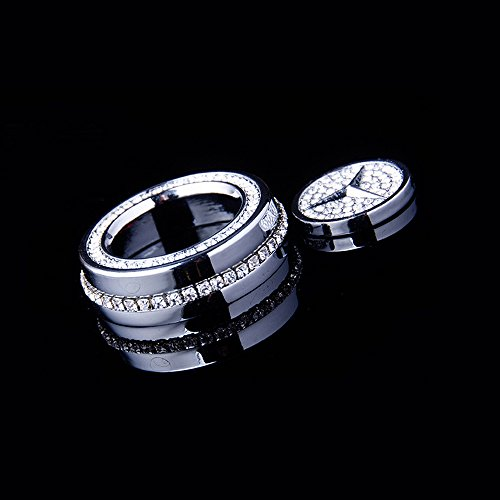 YIKA Handmade crystal audio knobs for Mercedes-Benz (silver)