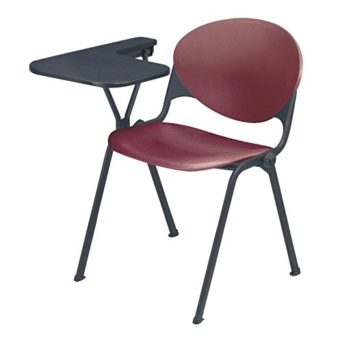 UPC 810389023145, KFI Seating Polypropylene Stacking School Chair with Writing Tablet, Burgundy Finish, Right Tablet