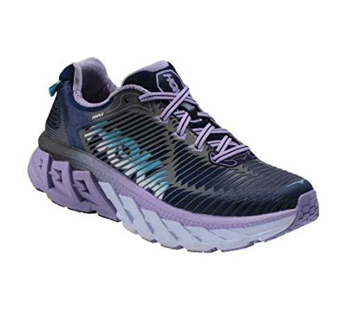 Control Women Running Shoes Motion (HOKA ONE ONE Women's Arahi Road Running Shoe,Medieval Blue/Lavender,US 5 M)