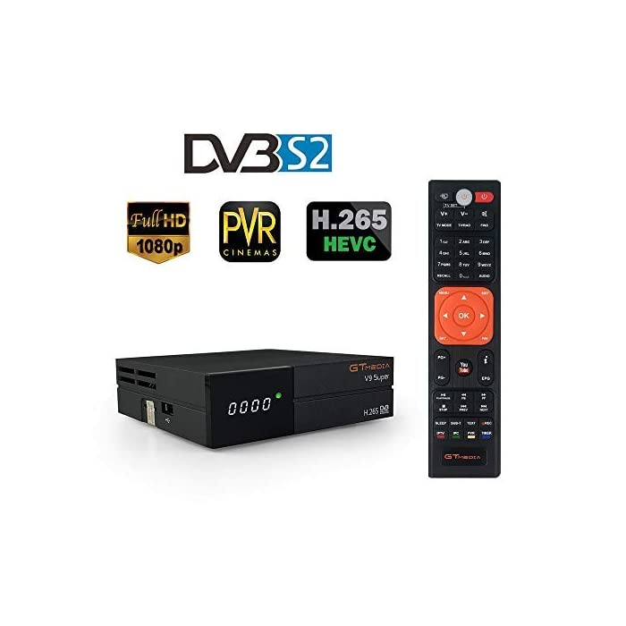 41sh5Dg BmL Haz clic aquí para comprobar si este producto es compatible con tu modelo Decodificador digital Full HD DVB-S2, decodificador STB de alta definición, salida 1080P a través de HD, compatible con AVS +, H.265. Supports muilt-in WIFI module, Ethernet, PVR Ready. Support Network Sharing,completo PowerVu, DRE y Biss clave, Soporte Unicable, Soporte XML EPG y Satellite EPG.