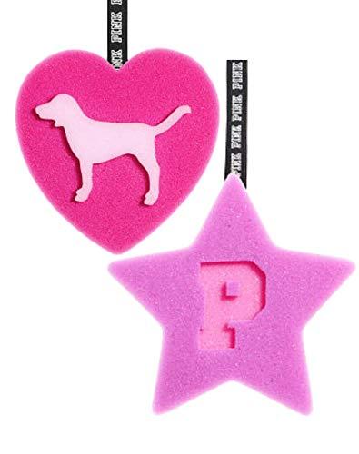- Victoria's Secret PINK Bath Bundle (2 Sponge Loofah Star & Heart)