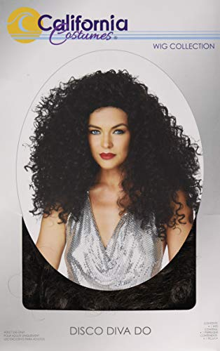 California Costumes Women's Disco Diva DO Wig, Brunette, One Size