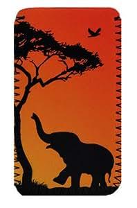Sony Xperia U, E, S, J, Acros' elefante ' Funda de neopreno, cubierta, dibujo