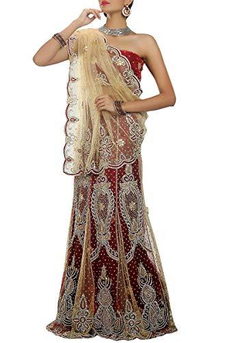 Designer Saree Indian Red Beige Style Wear Lehenga amp; Ethnic EEwqRxSz