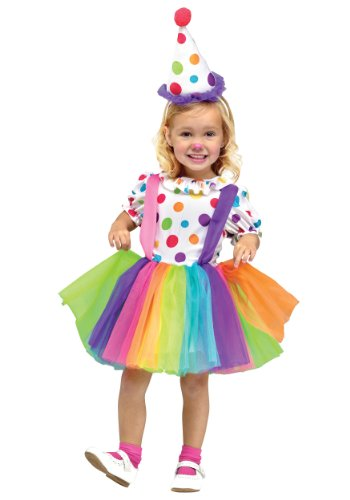Girls Big Top Fun Clown Costume - X-Large 4/6 -