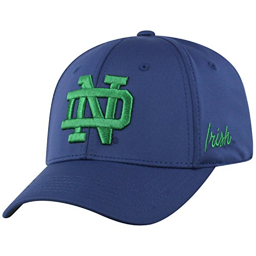 Top of the World Notre Dame Fighting Irish Men's Fitted Hat Icon, Navy, One Fit