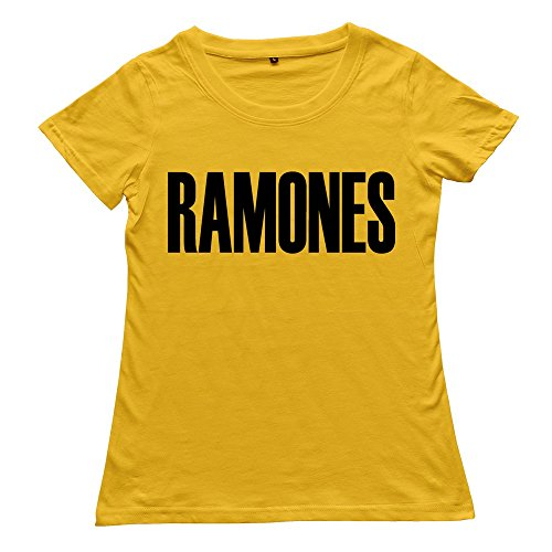 Goldfish Women's Emotion Blank Ramones T-Shirt Yellow US Size L ()