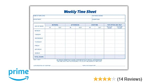 printable time sheets weekly