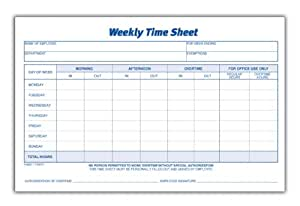 amazon com adams time sheet 9 x 5 5 inch weekly format 2 part