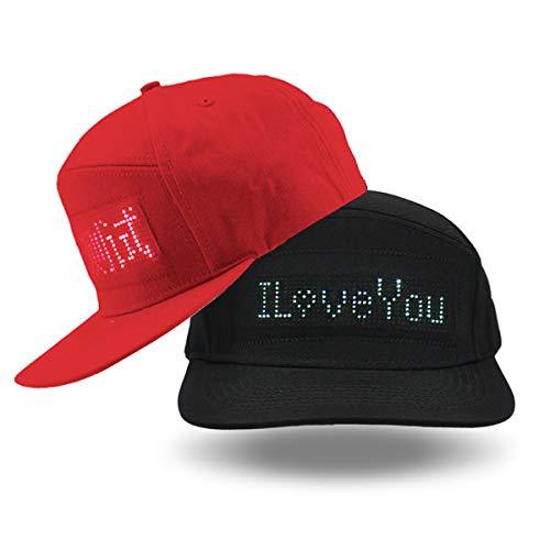 shunpad LED Cool Hats for Men Baseball Halloween Birthday New Year's Christmas Party Supplies Hat Black -